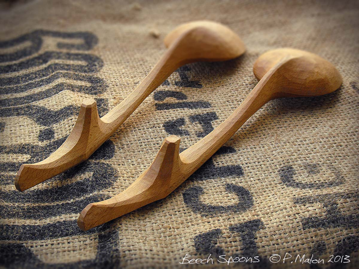Beech Bowl & Spoons detail Whittling Greenwood working hand made Treen Peter Maton Brighton 2014 whittleandstitch.net