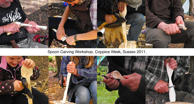 Whittling Workshop with Peter Maton Montage Coppice Week Ashdown Forest 2011