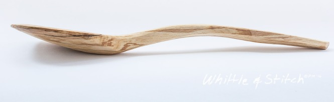 Hand carved wooden spatula in spalted Beech by Peter Maton Sussex UK 2014  http://whittleandstitch.net